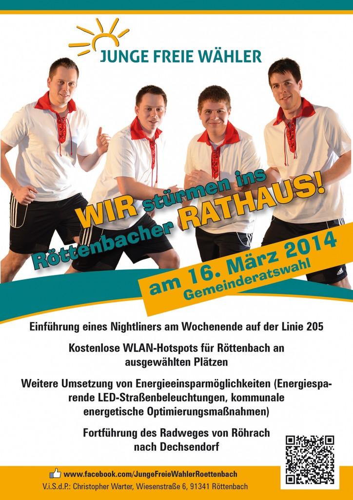 Junge Freie Wähler Röttenbach 2014 stürmen ins Rathaus