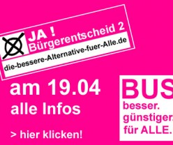 Bürgerentscheid StUB – Stadtumlandbahn – Hier finden Sie alle Informationen – StUB - Nein am 19.04.2015